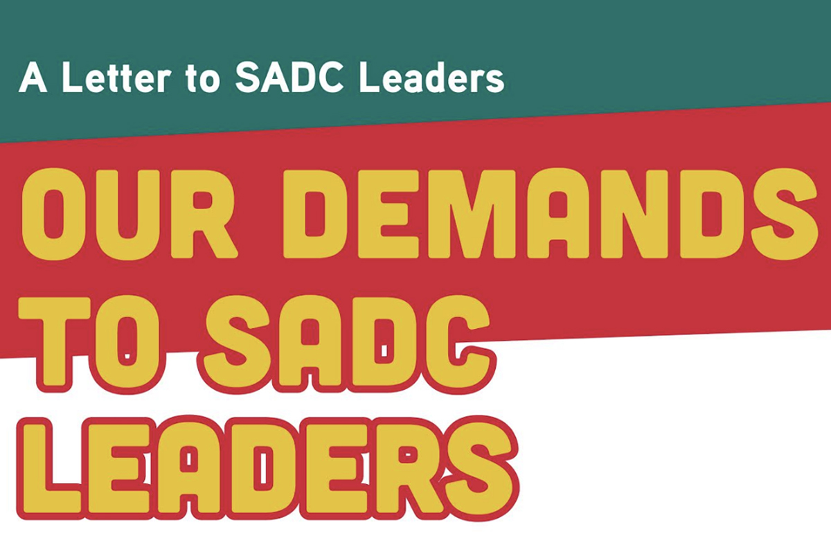 Open Letter to SADC Leaders